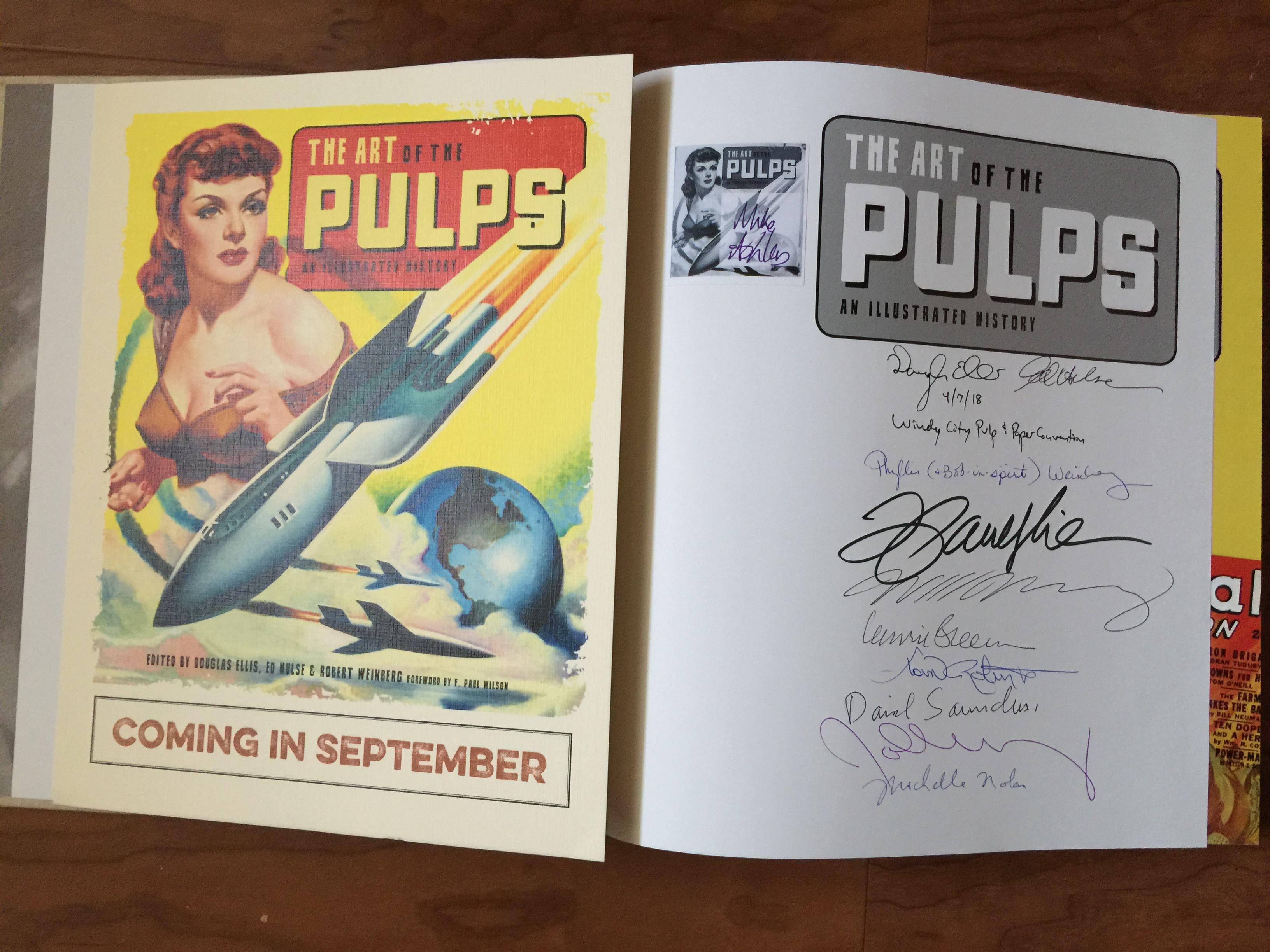 My signed copy of the Art of the Pulps - a great book, and one you should buy if you haven't already